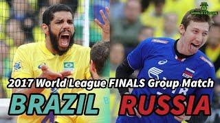 Brazil vs Russia - World League 2017 FINALS - ALL BREAKS REMOVED