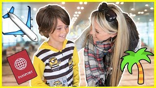 SURPRISE HOLIDAY REVEAL AT THE AIRPORT ✈ YouTube Family adventures ⛱
