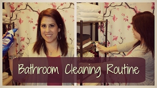 BATHROOM CLEANING ROUTINE! // SPEED CLEANING
