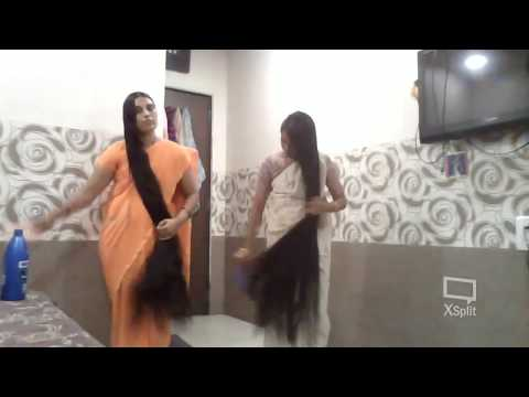 indianlonghairworld Live Stream - Meet our Real Rapunzel Ganga and Sujata ( Combo)