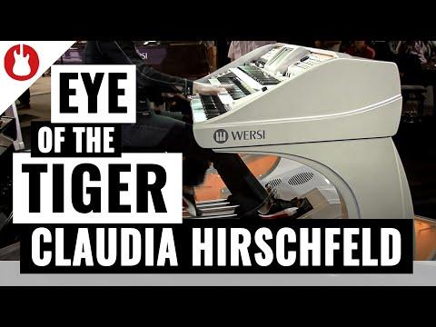 Musikmesse 2012 Claudia Hirschfeld bei WERSI Teil 2 Live Eye of the Tiger