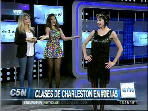 C5N DE 1 A 5 CLASES DE CHARLESTON CON LORELEY PORTAS