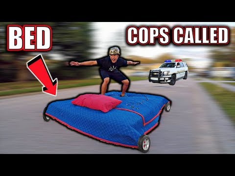 BED SURFING IN STREET COPS CALLED