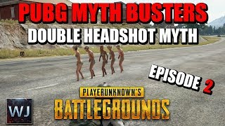 PUBG MYTH BUSTERS: Shoes or Barefoot Speed, Double AWM Headshot, Molotov Survival  - EPISODE 2