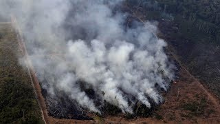 Bolsanaro says Brazil lacks the resources to fight record number of Amazon fires