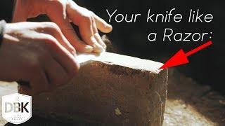 3 Cheapest Ways To Sharpen ANY Knife like a RAZOR BLADE