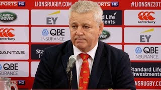Press Conference: Gatland insists Lions will learn from defeat | Lions NZ 2017