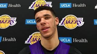 Lonzo Ball talks haircut, Kyle Kuzma's game and working on his shot | ESPN