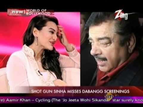 Why Shatrugan Sinha has still not seen Sonakshi's film Dabangg?
