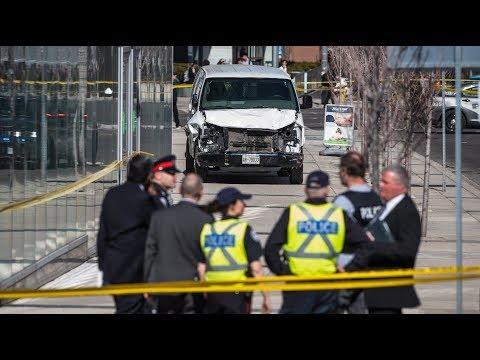 Nine dead after van hits pedestrians in Toronto | ITV News