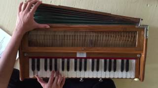 Harmonium Lesson: Jai Jai Bolo Ananda Amba Mataki Jai