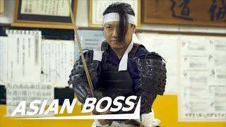 Meet A Real Samurai (Cuts 240 mph BB Gun Pellet) | ASIAN BOSS