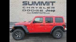 8J177 THE ALL NEW 2018 JEEP WRANGLER JL UNLIMITED RUBICON NEW JL WRANGLER 1ST JL IN WISCONSIN RED