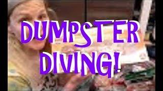 DUMPSTER DIVING FOR FREE FOOD WOO HOO!!!!!!!!!!