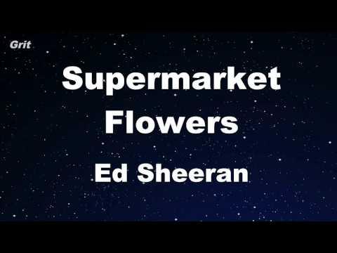 Supermarket Flowers - Ed Sheeran Karaoke 【No Guide Melody】 Instrumental