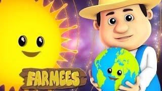 The Planets Song | Nursery Rhyme Farmees | Kids Songs | Baby Rhymes
