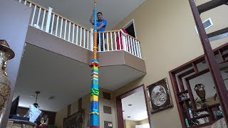 BUILDING THE WORLDS TALLEST LEGO TOWER!! ( 25 FEET )