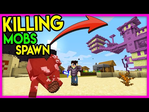 Beating Minecraft but Killing Mobs Spawn Structures Hindi Mobs give OP Structure Challenge