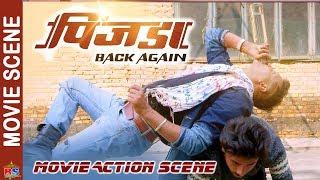 Pinjada Back Again | Nikhil Action Scene | Nikhil Upreti,Sara Shirpaili