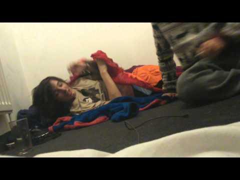 Sleepy drunk gets molested