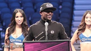 FLOYD MAYWEATHER'S COMPLETE POST FIGHT PRESS CONFERENCE VIDEO - MAYWEATHER VS MCGREGOR