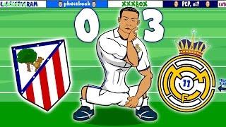 RONALDO HAT-TRICK! Atletico Madrid vs Real Madrid 0-3 (Madrid Derby Parody 2016)