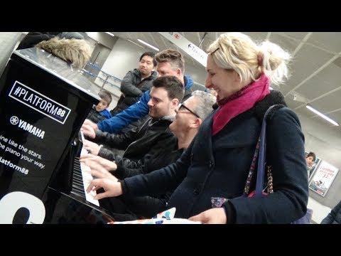 Four Random Strangers Jam On A Public Piano