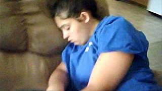 My Sis Sleeping!! (HOW SWEET!!)