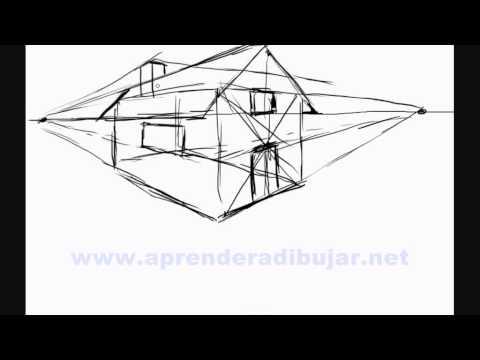 Como dibujar una casa en 3d Dibujos de casas en perspectiva