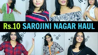 SAROJINI NAGAR HAUL in HINDI | Rs.10 to Rs.50 Clothes | Try on haul