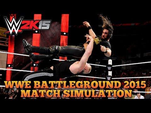 WWE Battleground 2015 Brock Lesnar vs Seth Rollins WWE 2K15 Match Simulation