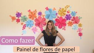 Vlog: Painel de flor de papel
