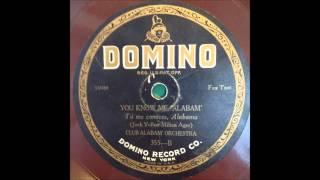 Club Alabam Orchestra 1924 JAZZ 78 Domino 355 Fletcher Henderson