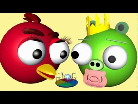 BABY CHICK JUNIOR with the Angry Birds☺ 3D animated gamespoof FunVideoTV Style ;