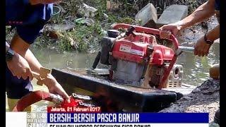 Banjir Surut, Warga Cipinang Melayu Mulai Bersih-bersih Dibantu Petugas Damkar - BIS 22/02