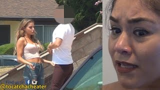 Girl's reaction to her Baby Daddy Caught Cheating at Church!