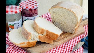 EASY White Bread Recipe   簡單白麵包(吐司)食譜