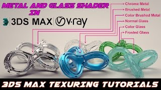 Vray Metal and Glass Tutorial in 3ds Max l V-RAY l MAX TUTORIALS l