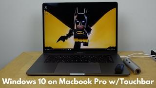 Installing Windows 10 on Macbook Pro w/Touch bar