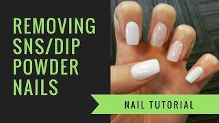 SNS or Dip Powder Removal | At Home Nails | jiannajay