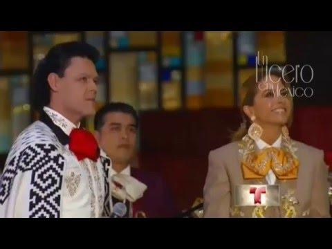 Lucero y Pedro Fernández Gema Mañanitas a la Virgen de Guadalupe. 2015