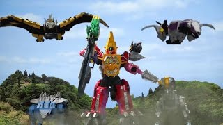 Power Ranger Dino Super Charge | Ultrazord Dino Charge vs Doowing - Capitulo 14