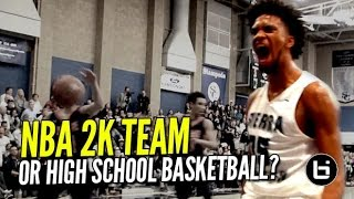 NBA 2K Squad In The Form of High School Basketball! Marvin Bagley III & Sierra Canyon DOMINATE!!