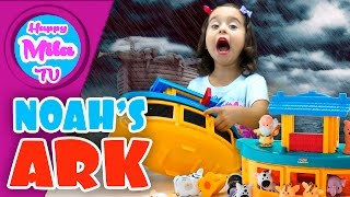 Noah's Ark Gift Set by Little People from Bible Story Toys Unboxing Funny Review | HappyMilaTV #310