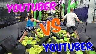 Gymnast VS Youtubers - NINJA Obstacle Course| Rachel Marie