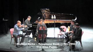 Michael Torke: Telephone book. José Miguel Gómez, cello.