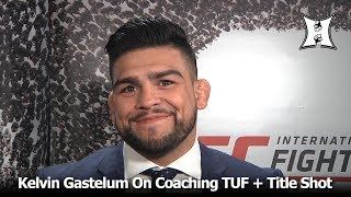 UFC's Kelvin Gastelum Talks About Coaching TUF + Fighting Middleweight Champion Robert Whittaker