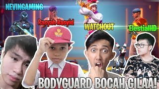 Jadi BODYGUARD BOCAH ! LANGSUNG RATA SATU MAP! - Free Fire Indonesia
