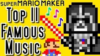 Super Mario Maker TOP 11 FAMOUS MUSIC LEVELS (Wii U)