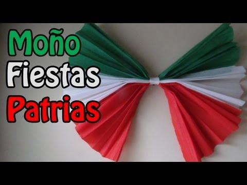 Fiestas patrias Moño de papel DECORATIVO manualidad XpreSs